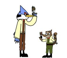 The Regular Show Star Fox by clockincomics