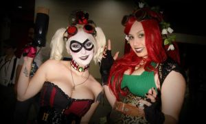 Here Comes Trouble: Steampunk Harley and Ivy~ by MadLoveVivienne