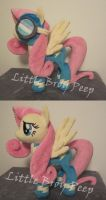 mlp Fluttershy Wonderbolt plush (commission) by Little-Broy-Peep