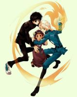 Yuuri,Greta and Wolfram by Half-SnakeCole