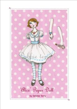Alice paper doll by firejay