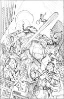 The Defenders #11 Cover Pencils by TerryDodson