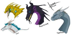 4 Famous Dragons by o2xygeno