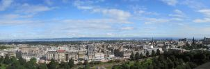 Edinburgh Panorama 1 by RobiSo