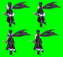 BBCS/BBCP Hayate Kurosagi/Shadow redrawn sprite by NIGHTMAREZENUKI