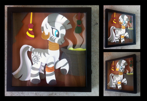 Shadowbox:  Zecora by The-Paper-Pony