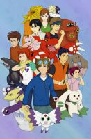 Digimon Tamers by feboee