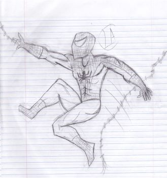 Spider-Man Sketch by LactheWatcher