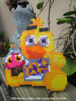 Chica from FNAF | Bead Sprite by Shendijiro