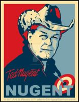 Ted Nugent Campaign Poster by Big-Skivies