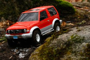 Tamiya Pajero in the Woods by Caboose6789