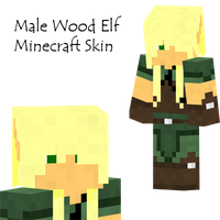 Wood Elf Male Minecraft Skin by Amayanina