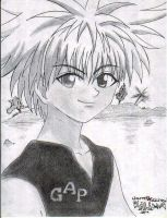 Killua smile by carlusdarienus