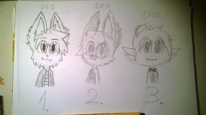WIP pic of the 3 forms. by Brucetheninja64