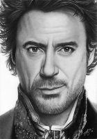 Robert Downey Jr. as Sherlock by SophieGraceArt