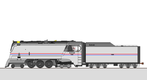 Amtrak 100 in her ol' days by Angelcuti