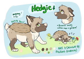 PA: Hedgie the Hedgedog by onlyhalfpigeon