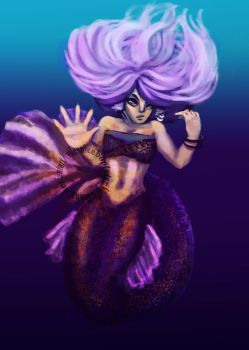 Lavender the Mermaid by Makany