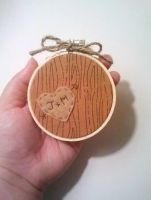 Homey Heart Personalized Embroidery Hoop by msmegas