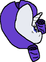 Rarity Back Sprite by cadpig1099