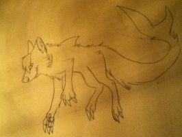 Wolf/shark by aquaheartthecat
