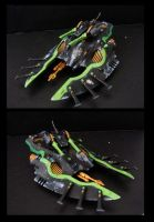 eldar amry - wave serpent by thevampiredio