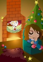 My self and my xmas!! by takeclaire