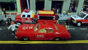 Tomica Dodge Coronet Fire Chief by hankypanky68