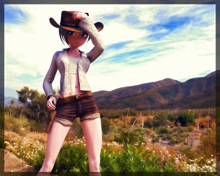 Cowgirl by 3doutlaw