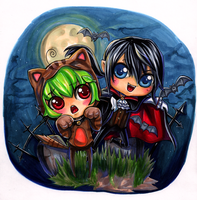Chibi Halloween Contest by Theherois--me