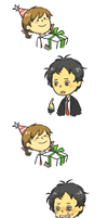 Happy Birthday Adachi by LarkIsMyName