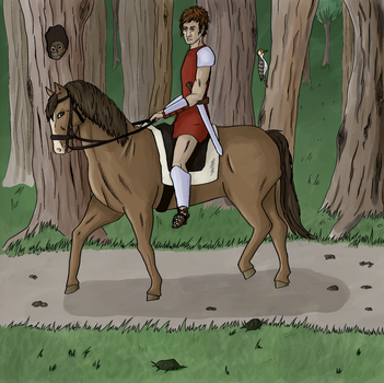 Roman on horse by Debstarr