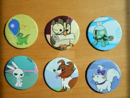 MLP Pet Buttons by TeslaLollipop