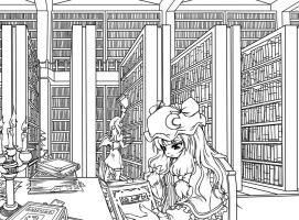 Patchouli's library by stevew