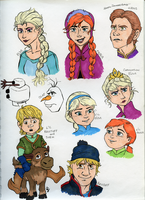 Frozen Doodles by Cattidy