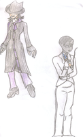 Faceless Girl and Patient Investigator by lady-warrior