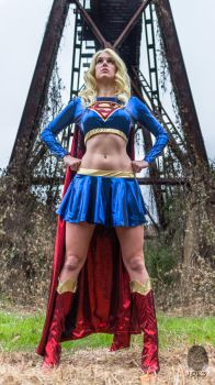 Supergirl: Power stance by AestheticEngineer
