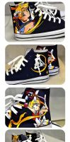 Commission: Sailor Moon Super S Custom Shoes by Feiuccia