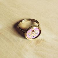 Sailor Moon Ring - Adjustable Size - Handmade by Monostache