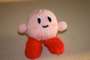 Knit Kirby by hippygirlanna