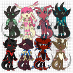 Look at all those chibi Reapers by floofyowl