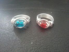 Two new rings by WyckedDreamsDesigns