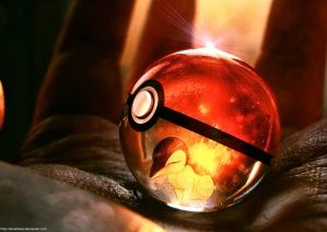 Cyndaquil in a Pokeball by Jonathanjo