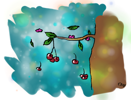 Cherries and a Tree by Ritzy-kun