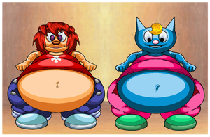 Fat Belly Lammy And Fat Belly Katty. by Virus-20