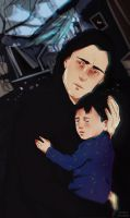 Snape with Harry ( Lily's death ) 2 by MarinaMichkina