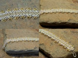 Silver and Gold Euro Bracelet by elderarc