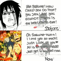 Sasuke-kun fangirls reaction..:D by LunaDelilah