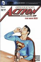 Action Comics sketch cover by artofmadness
