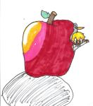 there's a minish in my apple by Ask-Minish-Vio